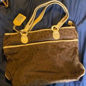 Brown large purse